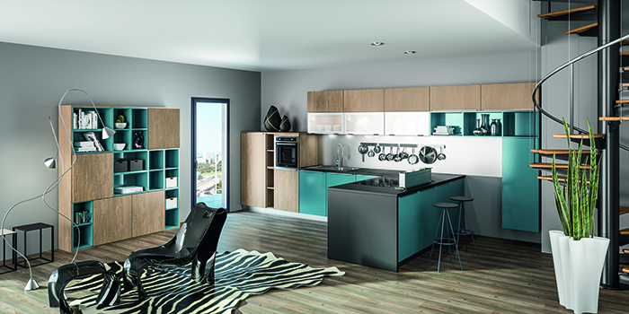 r novation cuisine chamb ry cuisine contemporaine cuisine vivet. Black Bedroom Furniture Sets. Home Design Ideas