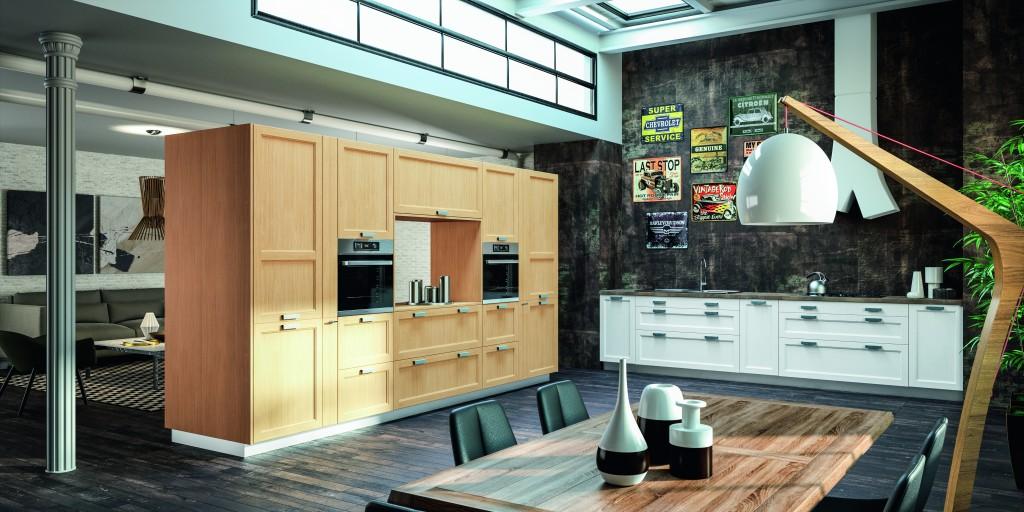 cuisiniste chamb ry cuisine classique bois cuisine vivet. Black Bedroom Furniture Sets. Home Design Ideas