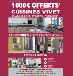 1 000€ offerts cuisines vivet